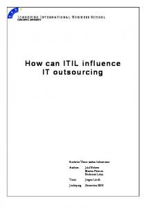 How can ITIL influence IT outsourcing - DiVA