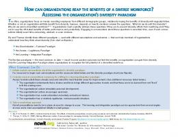 how can organizations reap the benefits of a diverse workforce ...