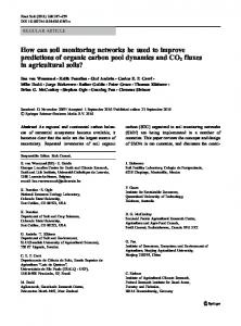 How can soil monitoring networks be used to improve ... - Springer Link
