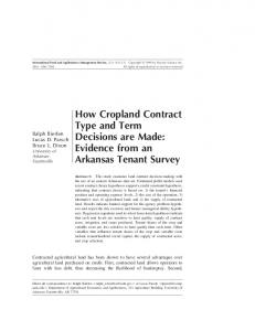How Cropland Contract Type and Term Decisions ... - AgEcon Search
