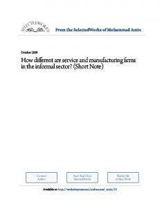 How different are service and manufacturing firms in ...