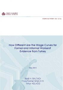 How Different are the Wage Curves for Formal and ...