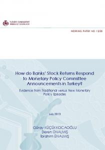 How do Banks' Stock Returns Respond to Monetary Policy ... - TCMB