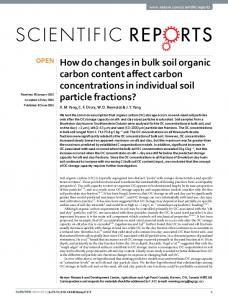 How do changes in bulk soil organic carbon ... - Semantic Scholar