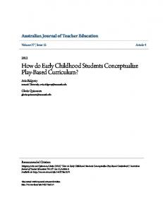 How do Early Childhood Students Conceptualize Play-Based - Eric