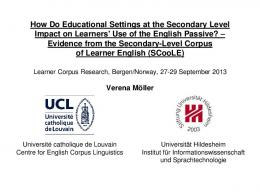 How Do Educational Settings at the Secondary Level Impact on ...