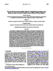 How Do Environmental Conditions Influence Vertical ... - AMS Journals