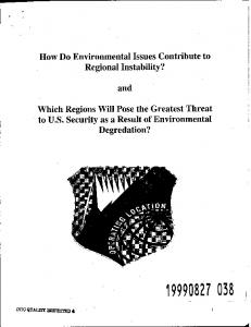How Do Environmental Issues Contribute to Regional Instability? and ...