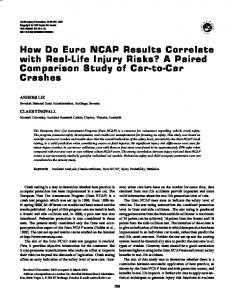 How Do Euro NCAP Results Correlate with Real-Life ... - CiteSeerX