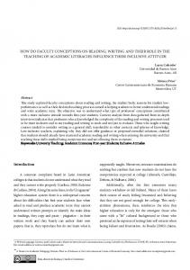 how do faculty conceptions on reading, writing and their ... - Scielo.br