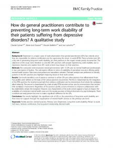 How do general practitioners contribute to ... - Semantic Scholar