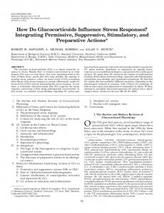 How Do Glucocorticoids Influence Stress Responses? - CiteSeerX