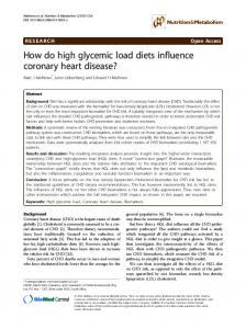 How do high glycemic load diets influence ... - Semantic Scholar