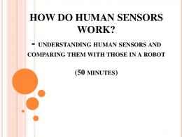 How do Human Sensors Work? - Teach Engineering