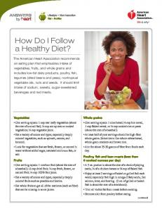 How Do I Follow a Healthy Diet? - American Heart Association