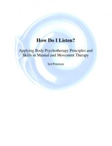 How Do I Listen? - Somatics.de