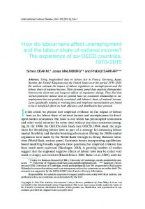 How do labour laws affect unemployment and ... - Wiley Online Library
