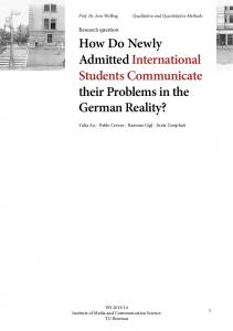 How Do Newly Admitted International Students ...