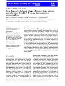 How do passive infrared triggered camera traps ... - Wiley Online Library