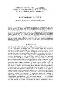 how do people learn? - Springer Link