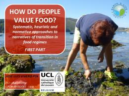 how do people value food?