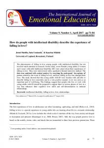 How do people with intellectual disability describe the ... - Eric