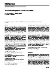 How do radiologists evaluate osteonecrosis? - Springer Link