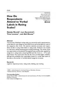 How Do Respondents Attend to Verbal Labels in ... - SAGE Journals