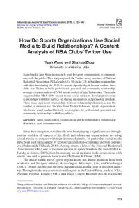How Do Sports Organizations Use Social Media to Build Relationships ...
