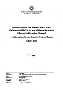How Do Students' Mathematics Self-Efficacy ...