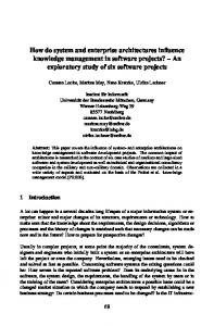 How do system and enterprise architectures influence ... - Journals