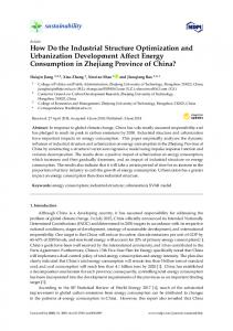 How Do the Industrial Structure Optimization and Urbanization ... - MDPI