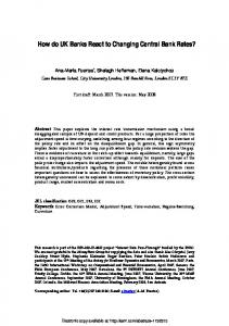 How do UK Banks React to Changing Central Bank ... - SSRN papers