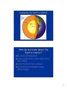 How do we know about the Earth's Interior? - SOEST