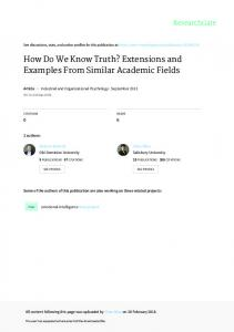 How Do We Know Truth? Extensions and Examples ...