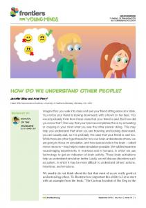 How Do We Understand Other People?