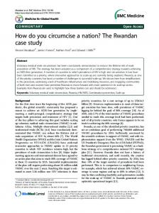 How do you circumcise a nation? The Rwandan ... - Semantic Scholar