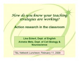 How do you know your teaching strategies are working? Action ...