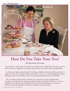 How Do You Take Your Tea? - Jacqueline's Tea Room