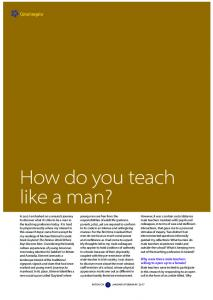 How do you teach like a man?