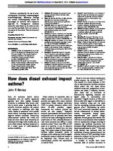 How does diesel exhaust impact asthma?