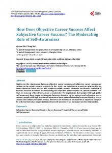 How Does Objective Career Success Affect Subjective Career ...