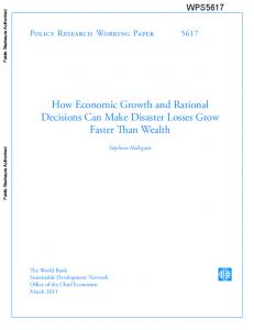 How Economic Growth and Rational Decisions Can Make Disaster ...