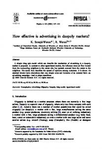 How effective is advertising in duopoly markets?