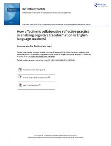 How effective is collaborative reflective practice in