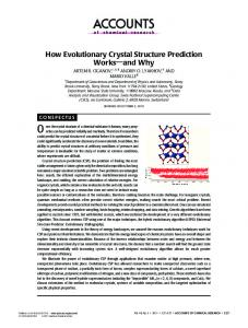 How Evolutionary Crystal Structure Prediction ... - ACS Publications