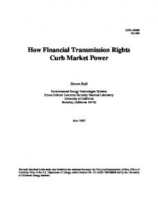 How Financial Transmission Rights Curb Market Power