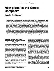 How global is the Global Compact? - Wiley Online Library