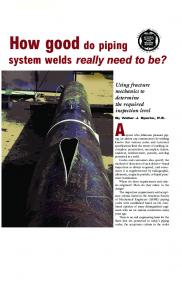 How Good Do Piping System Welds Really Need to Be?