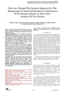 How has Changed The Surgical Approach for The Management of ...